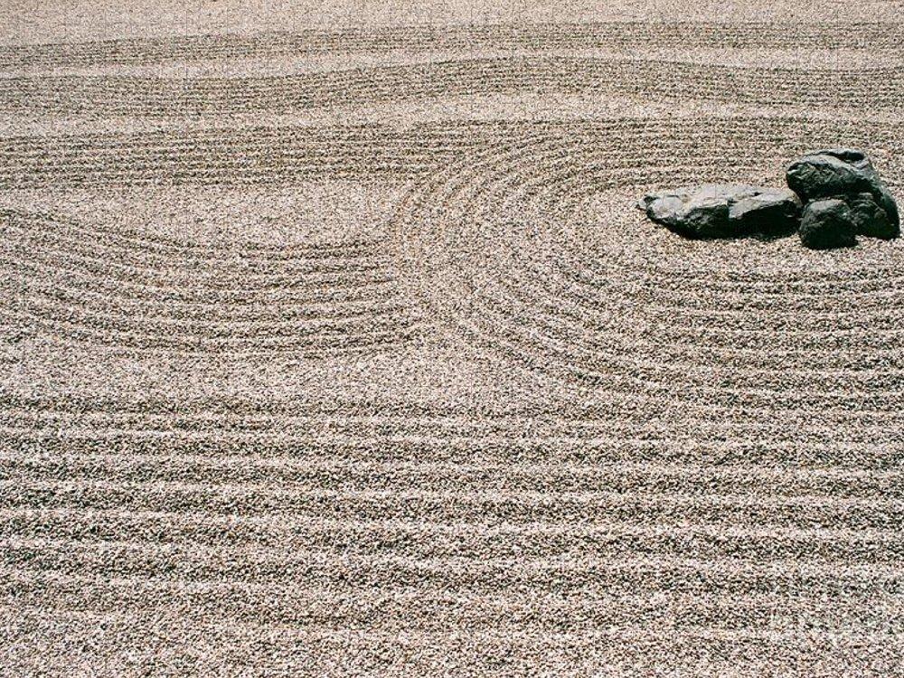 Zen Puzzle featuring the photograph Zen Garden by Dean Triolo