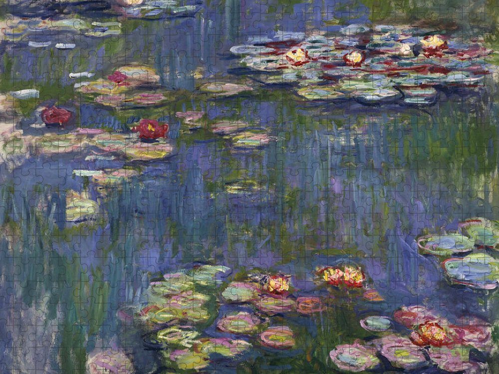 Monet Puzzle featuring the painting Water Lilies, 1916 by Claude Monet