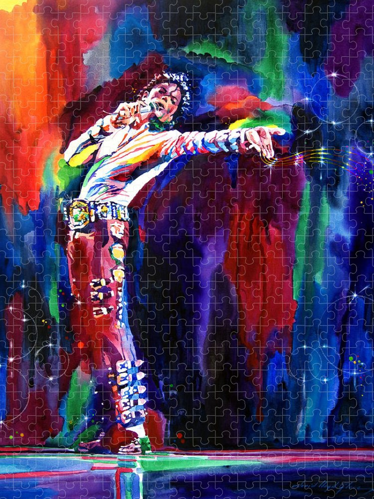 Michael Jackson Puzzle featuring the painting Jackson Magic by David Lloyd Glover