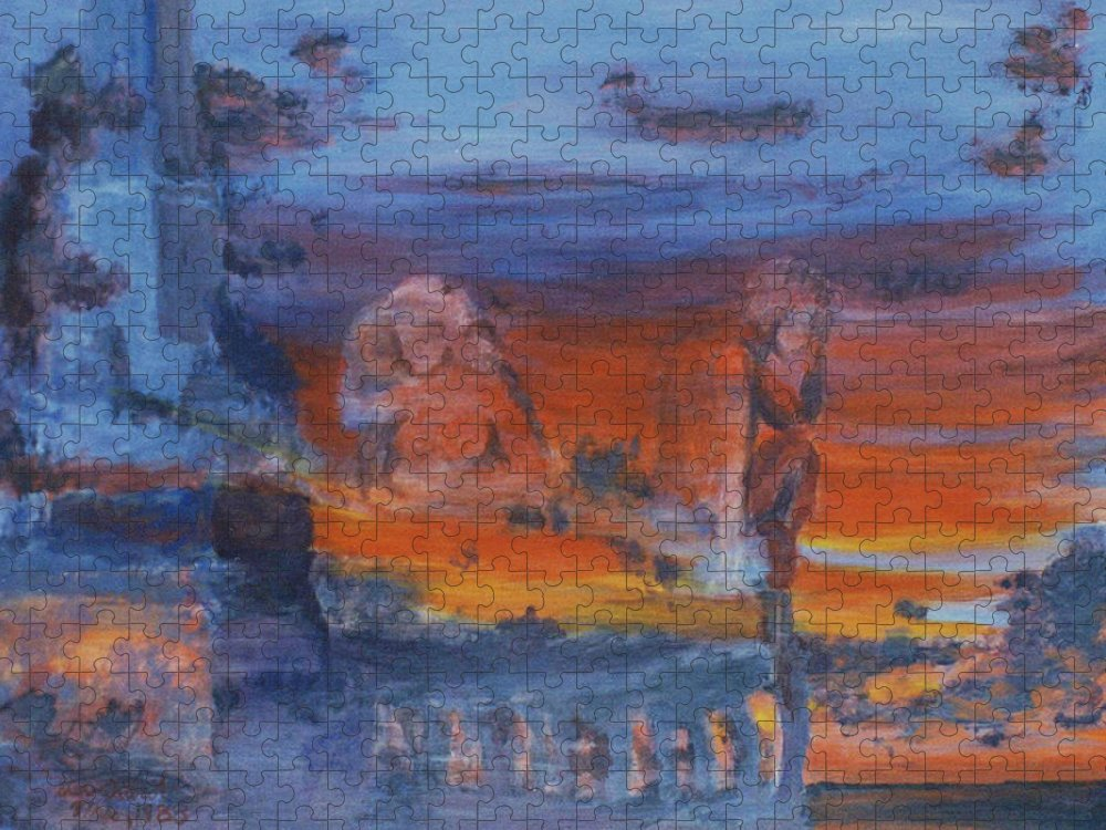 Abstract Puzzle featuring the painting A Mystery Of Gods by Steve Karol