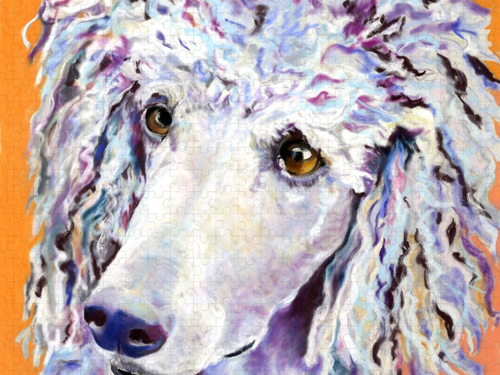 Standard Poodle Puzzle featuring the pastel Above The Standard  by Pat Saunders-White