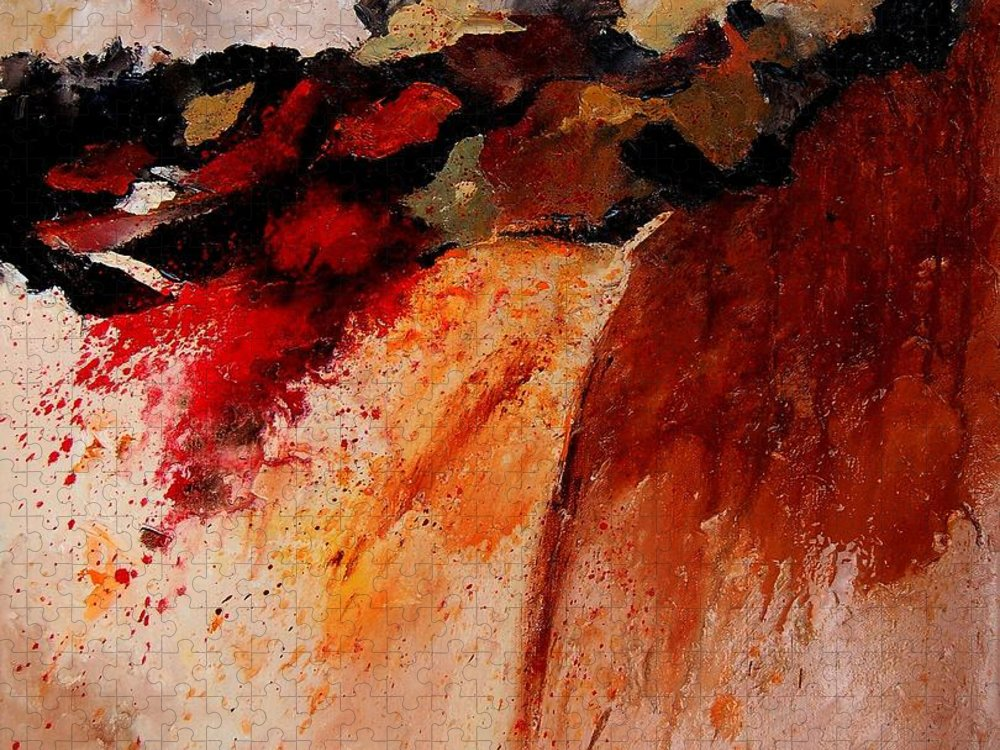 Abstract Puzzle featuring the painting Abstract 010607 by Pol Ledent
