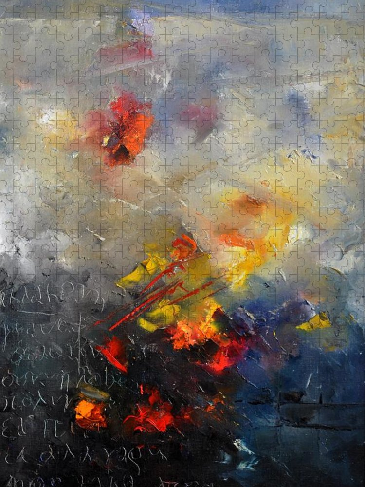 Abstract Puzzle featuring the painting Abstract 0805 by Pol Ledent