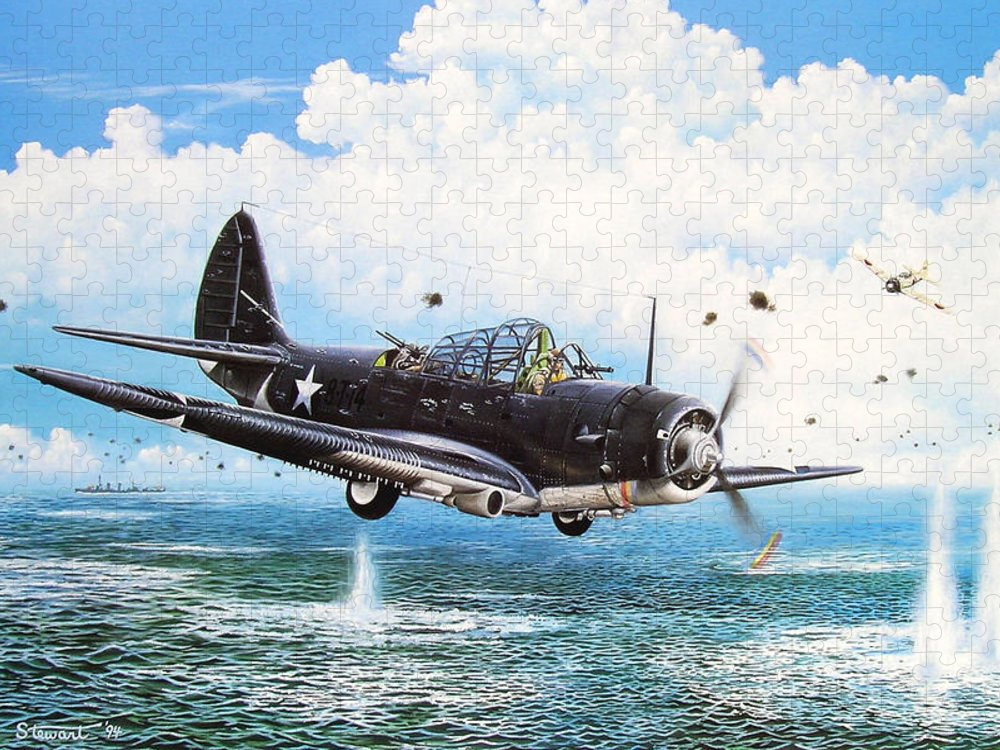 Military Puzzle featuring the painting Against The Odds by Marc Stewart