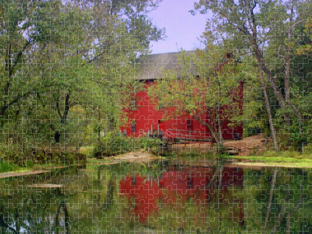 Alley Spring Puzzle featuring the photograph Allsy Sprng Mill 2 by Marty Koch