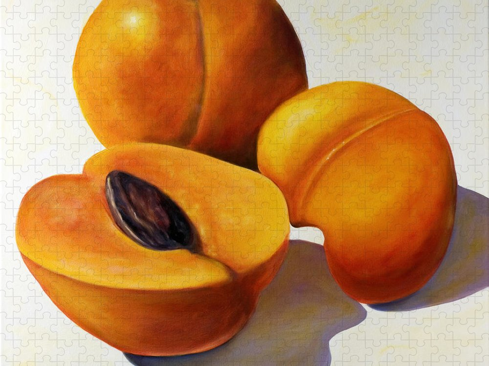 Apricots Puzzle featuring the painting Apricots by Shannon Grissom