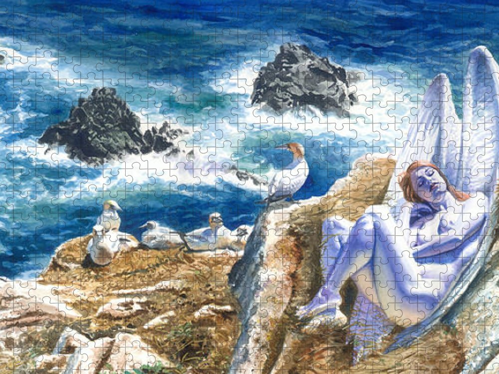 Women Puzzle featuring the painting At Rest by Ken Meyer jr