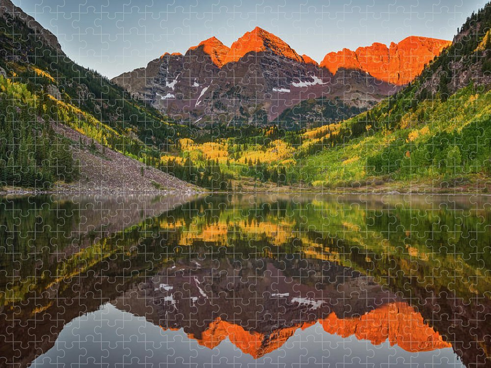 Aspen Puzzle featuring the photograph Autumn Bells by Darren White