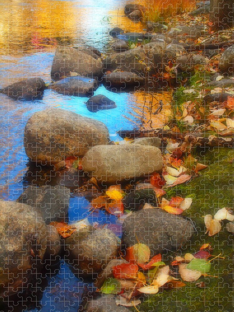 Autumn Puzzle featuring the photograph Autumn By The Creek by Tara Turner