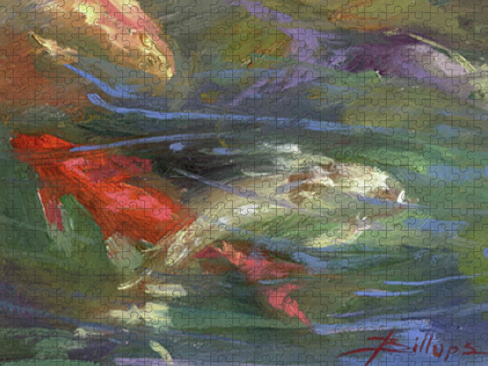 Plein Air Puzzle featuring the painting Below The Surface by Betty Jean Billups