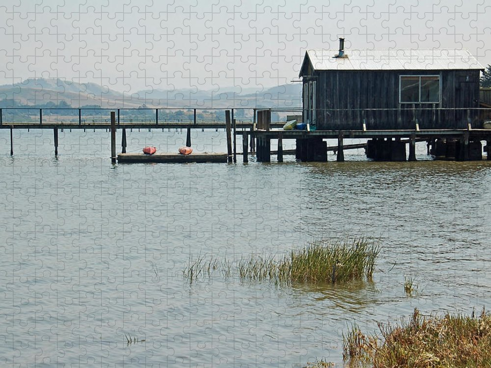 Boat House Puzzle featuring the photograph Boat House at Inverness by Suzanne Gaff