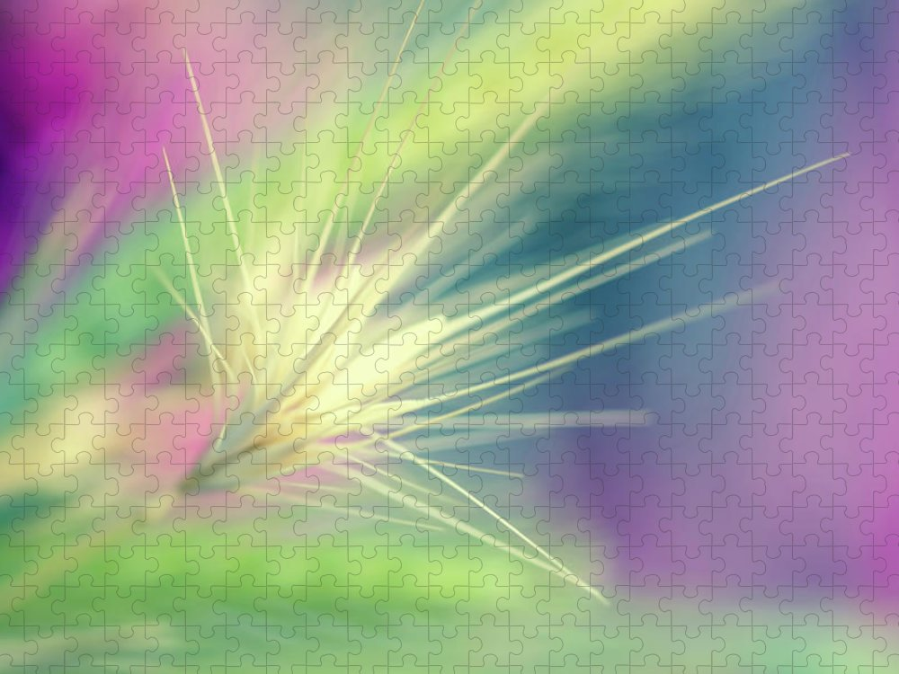 Photography Puzzle featuring the digital art Bright Weed by Terry Davis