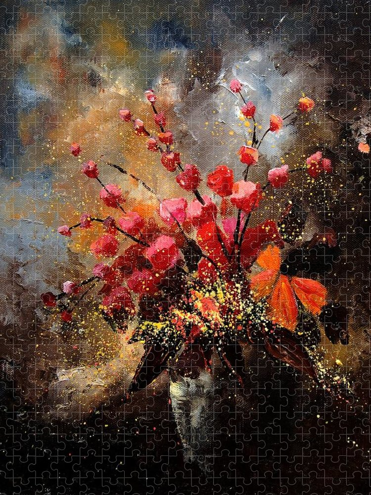 Poppies Puzzle featuring the painting Bunch 1207 by Pol Ledent