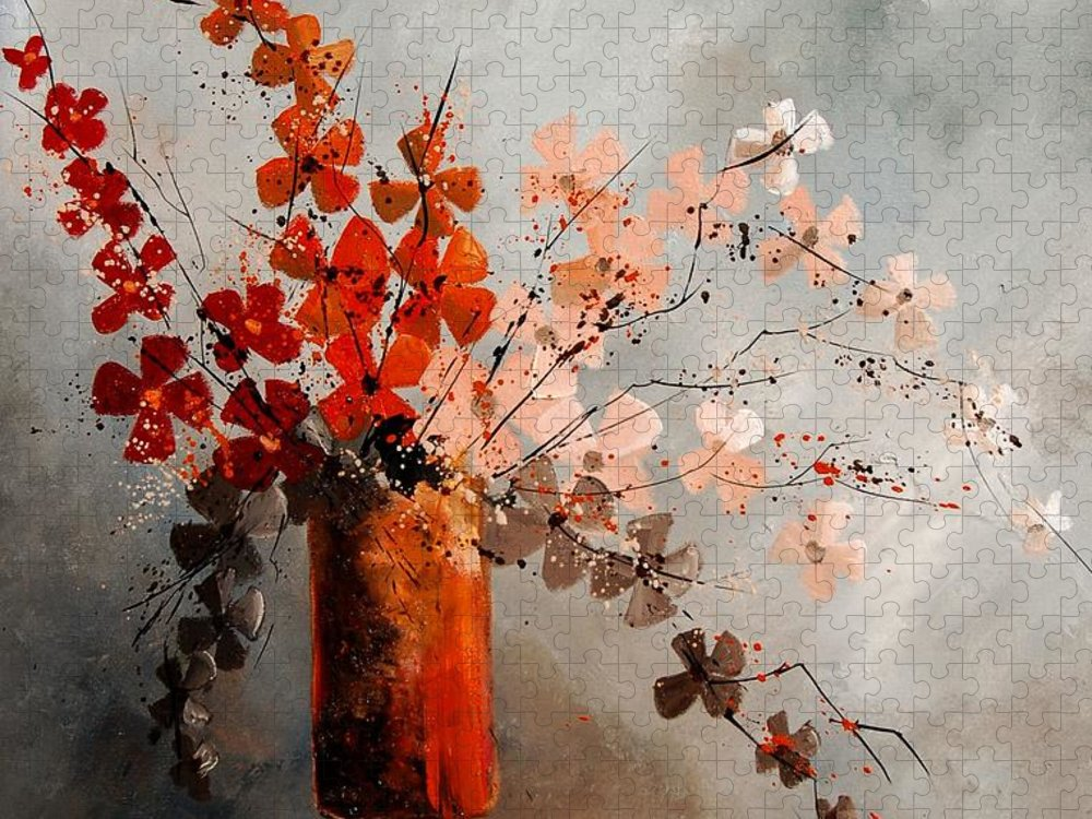 Flowers Puzzle featuring the painting Bunch 670908 by Pol Ledent