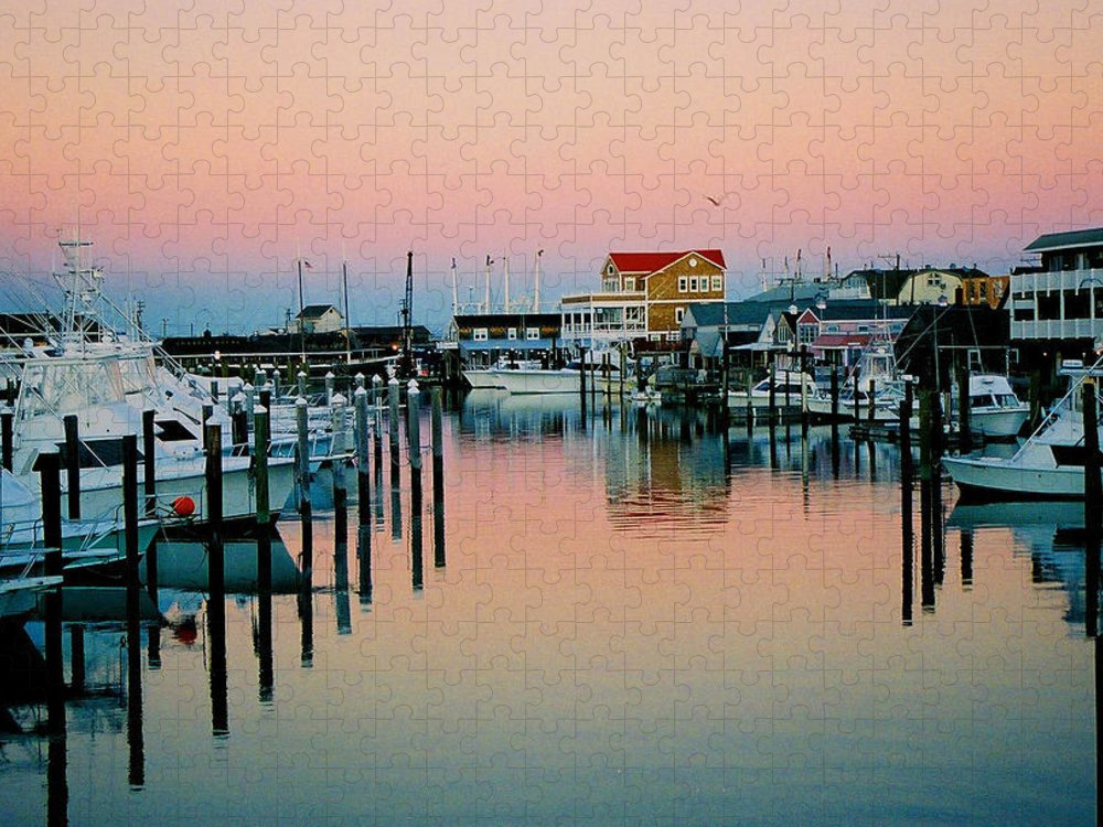 Cape May Puzzle featuring the photograph Cape May after Glow by Steve Karol