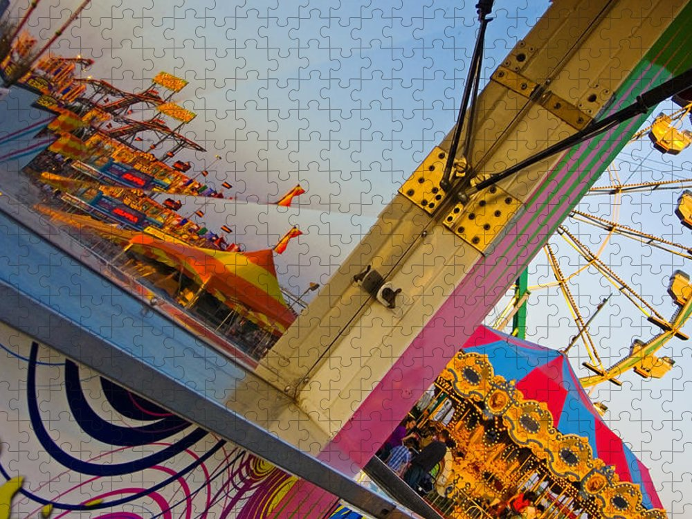 Carnival Puzzle featuring the photograph Carnival 1 by Skip Hunt