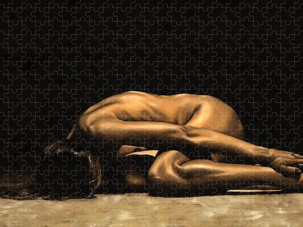 Nude Puzzle featuring the painting Chastity by Richard Young