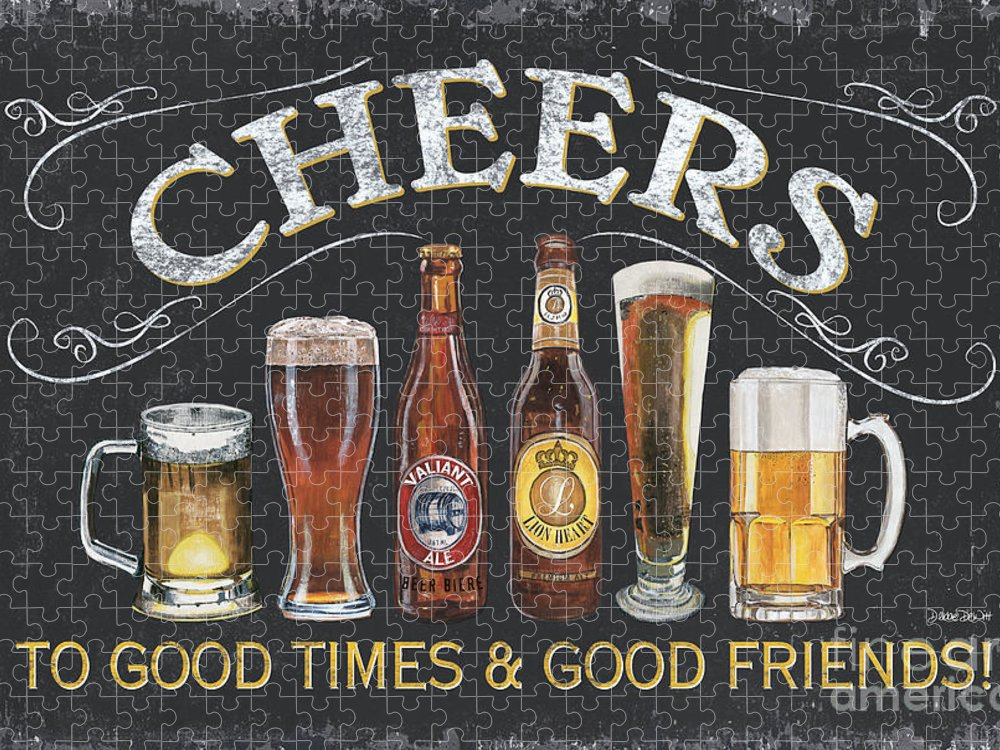 Cheers Puzzle featuring the painting Cheers by Debbie DeWitt