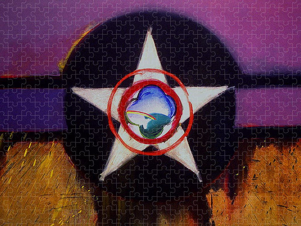 Air Force Insignia Puzzle featuring the painting Cheyenne Autumn by Charles Stuart