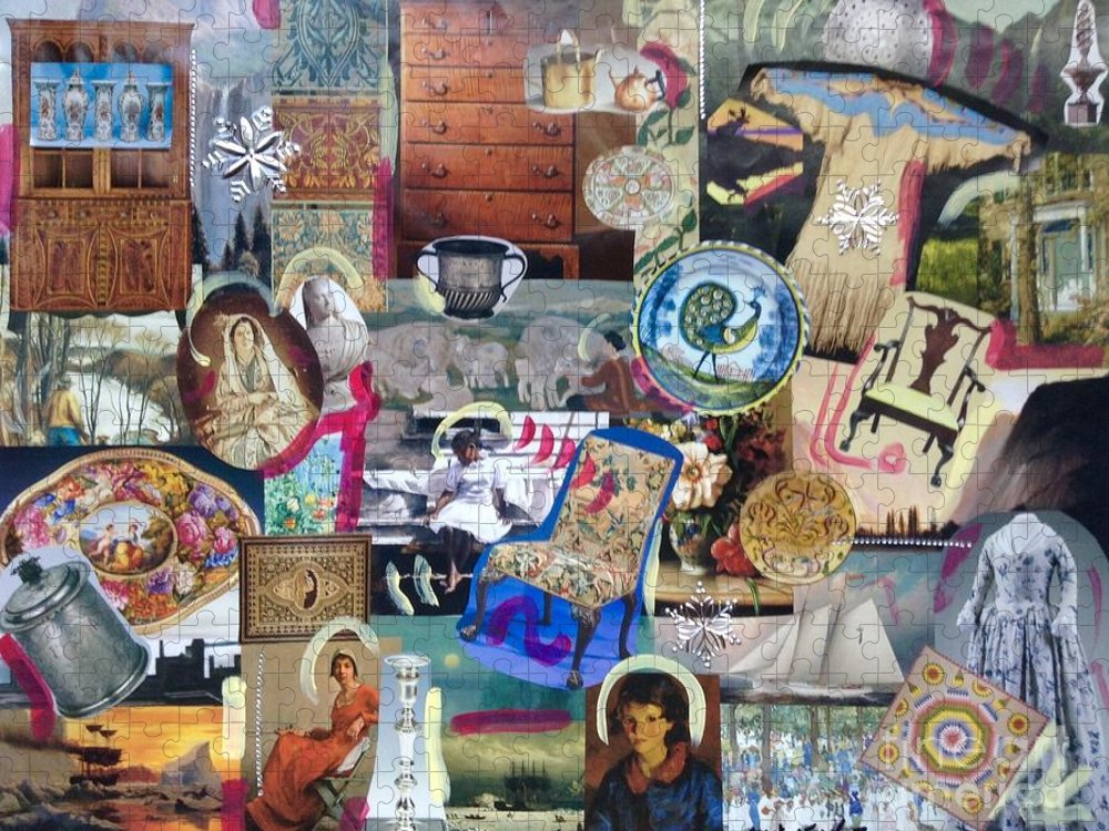History Americana Puzzle featuring the photograph Colonial Heritage - Panel 4 by Margaret Lindsay Holton