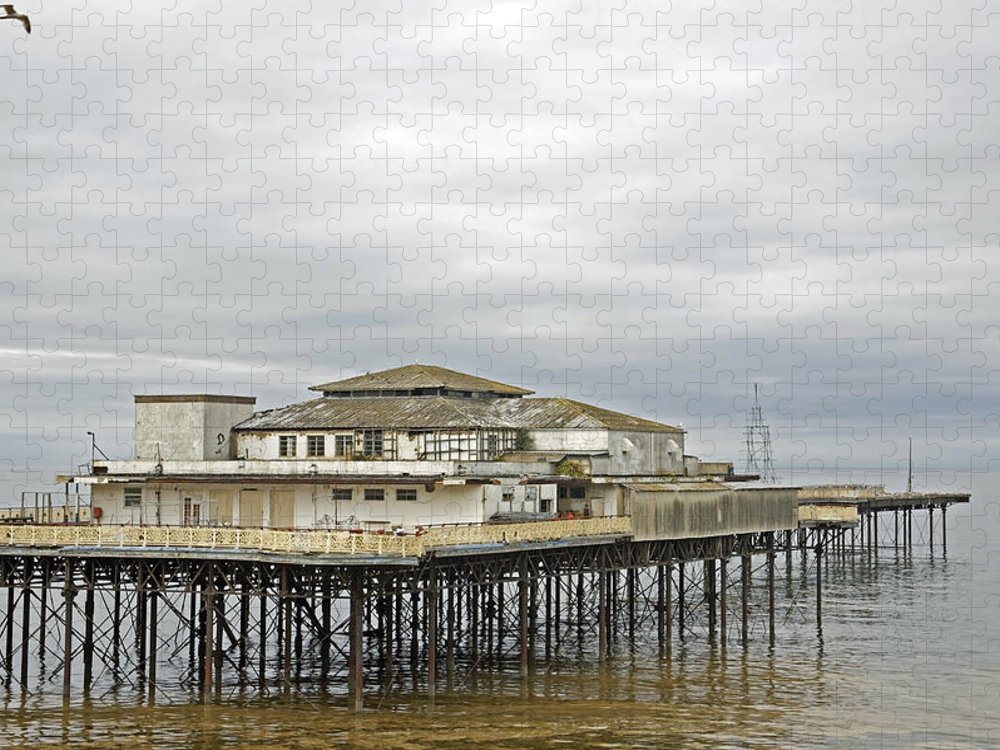 Piers Puzzle featuring the photograph Colwyn Bay pier. by Christopher Rowlands