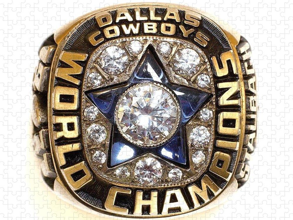 Dallas Cowboys Puzzle featuring the digital art Dallas Cowboys First Super Bowl Ring by Paul Van Scott