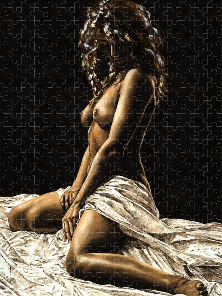 Nude Puzzle featuring the painting Defiance by Richard Young