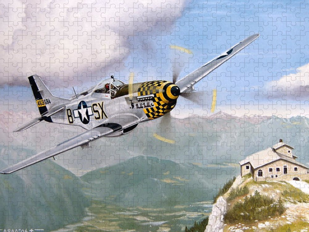 Military Puzzle featuring the painting Double Trouble Over The Eagle by Marc Stewart