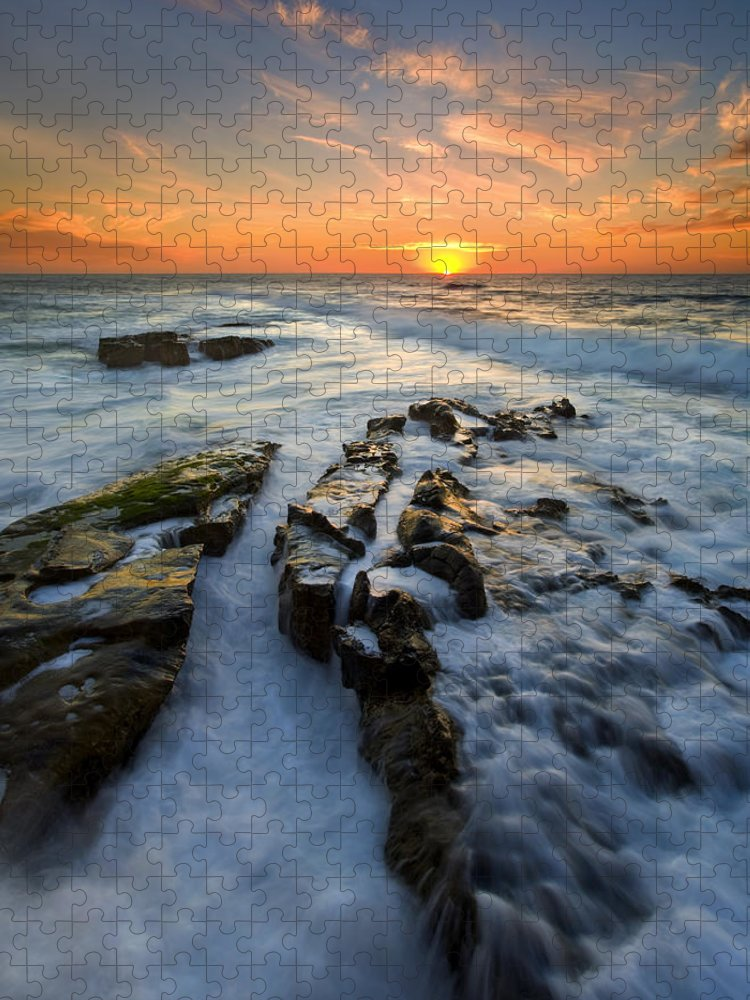 Sunset Puzzle featuring the photograph Engulfed by Mike Dawson