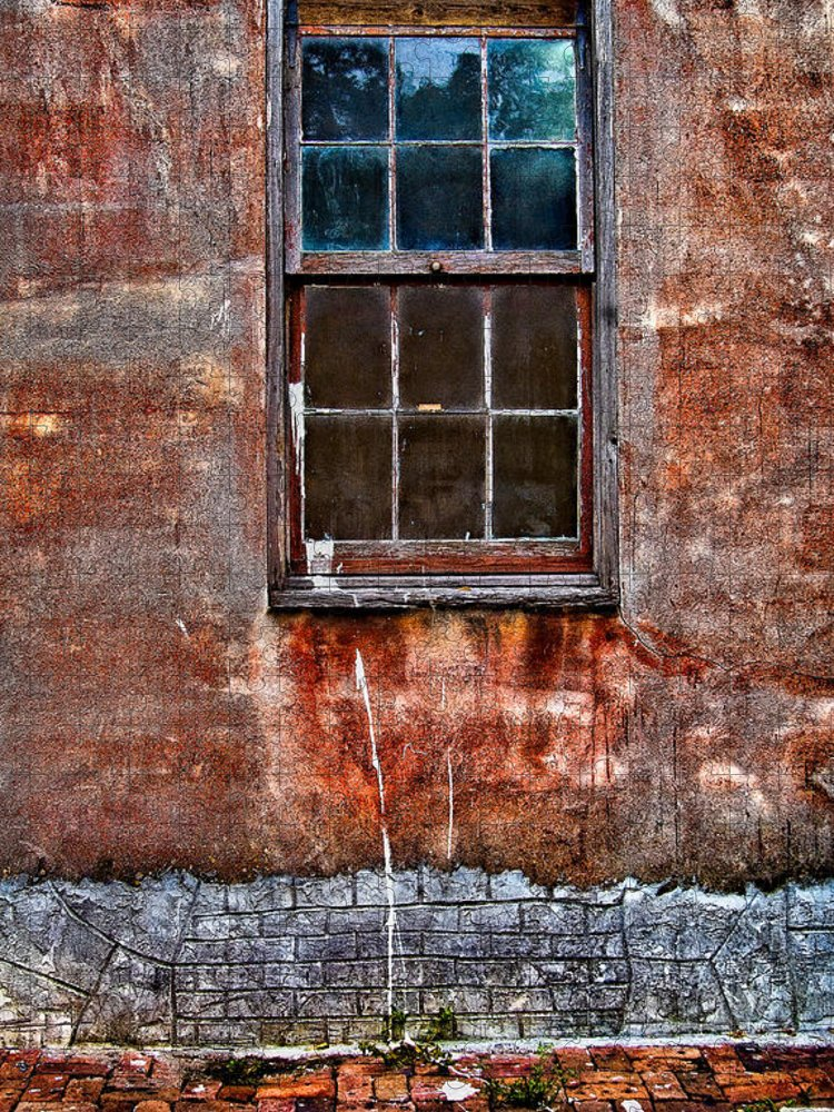 Window Puzzle featuring the photograph Faded Over TIme by Christopher Holmes