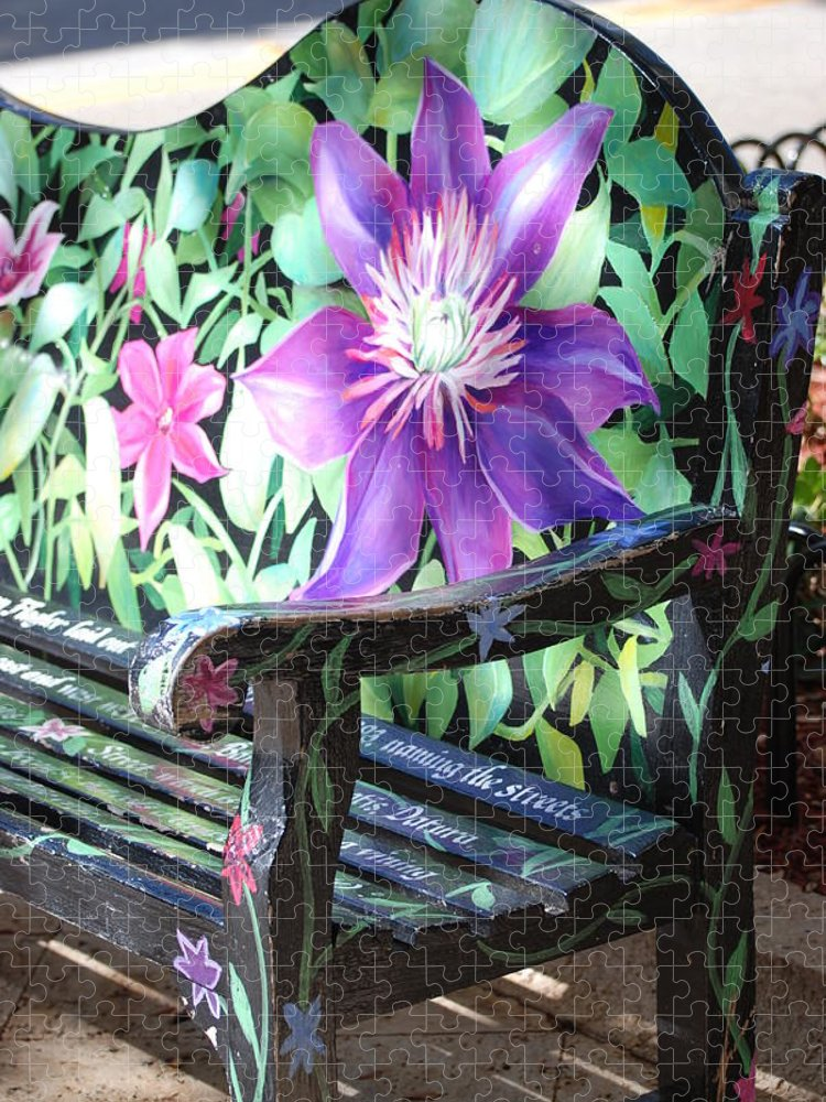 Macro Puzzle featuring the photograph Flower Bench by Rob Hans