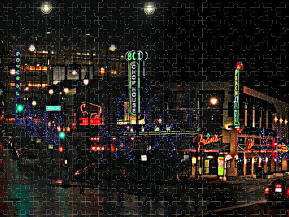 City Scape Puzzle featuring the photograph Fourteenth and Main by Steve Karol