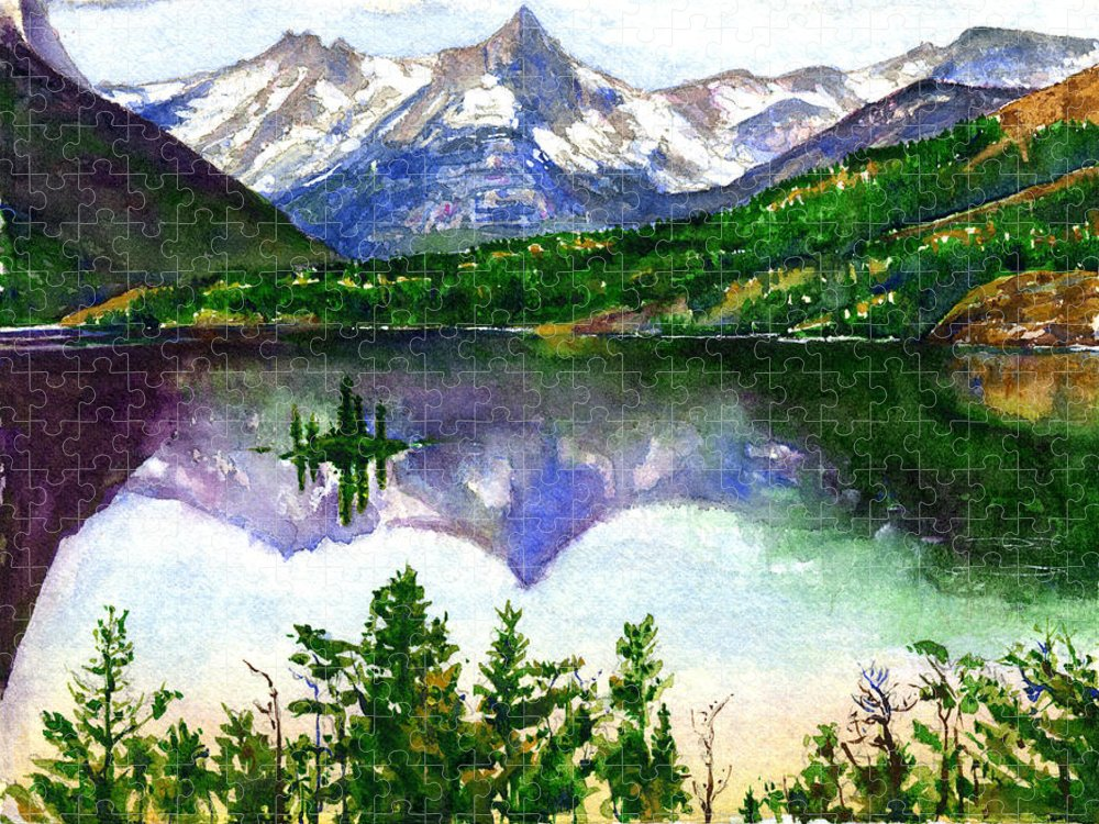Watercolor Puzzle featuring the painting Franks Painting by John D Benson