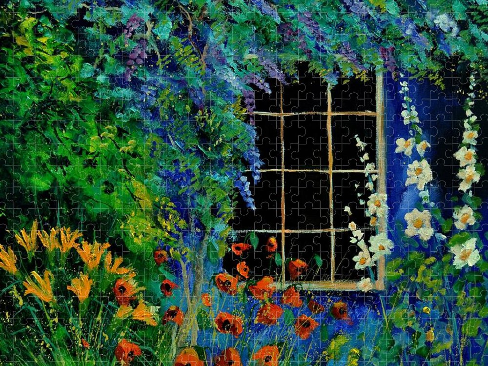 Flowers Puzzle featuring the painting Garden 88 by Pol Ledent