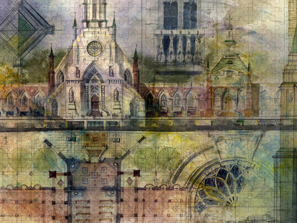 Gothic Puzzle featuring the painting Gothic by Andrew King