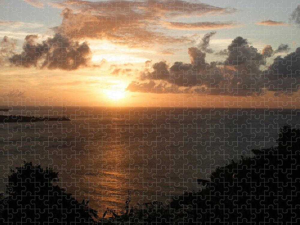 Grenada Puzzle featuring the photograph Grenadian Sunset I by Jean Macaluso