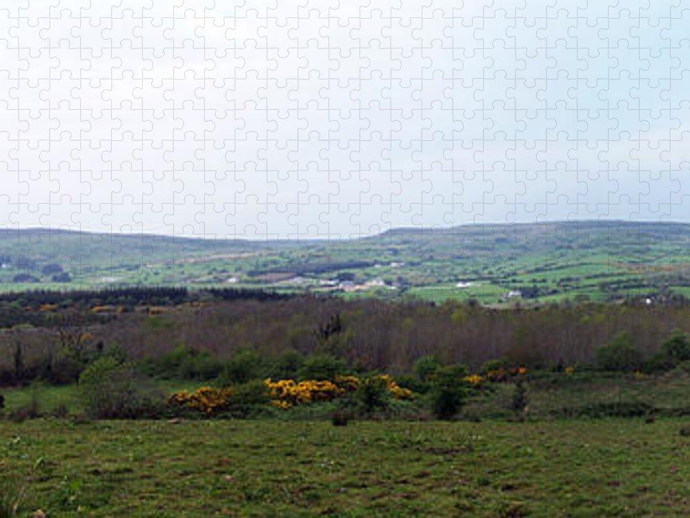 Ireland Puzzle featuring the photograph Horses at Lough Arrow County Sligo Ireland by Teresa Mucha