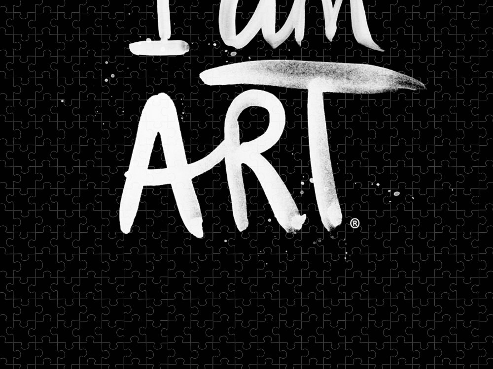 I Am Art Puzzle featuring the mixed media I Am Art- Painted by Linda Woods