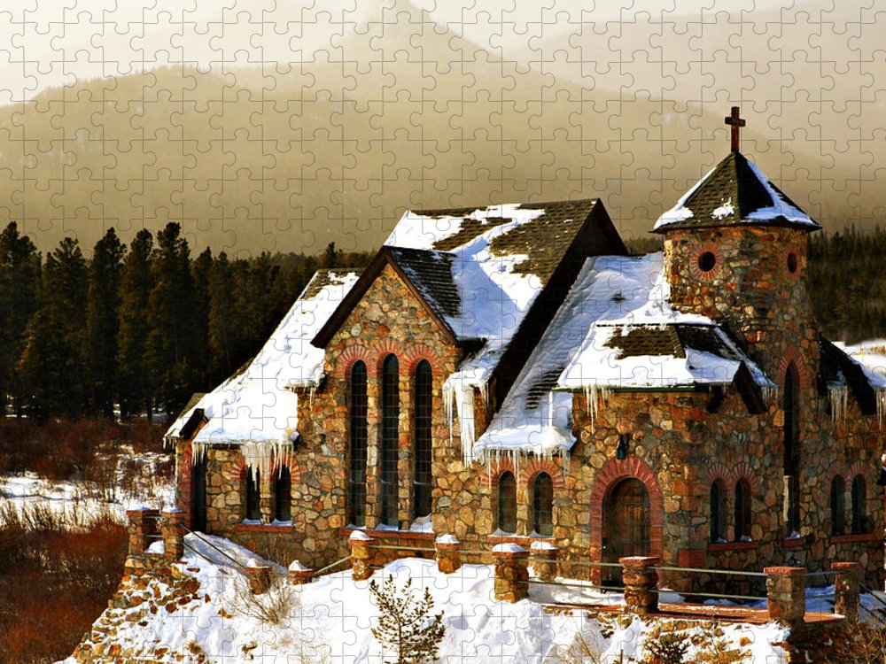 Americana Puzzle featuring the photograph Icicles by Marilyn Hunt