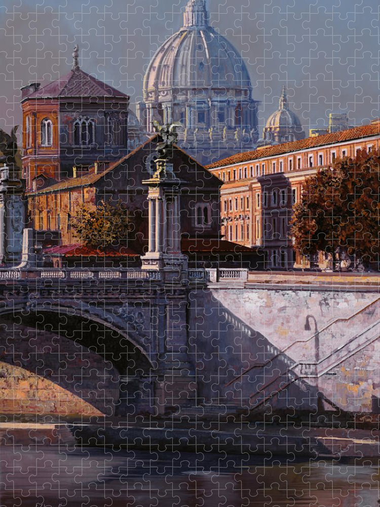 Rome Puzzle featuring the painting Il Cupolone by Guido Borelli