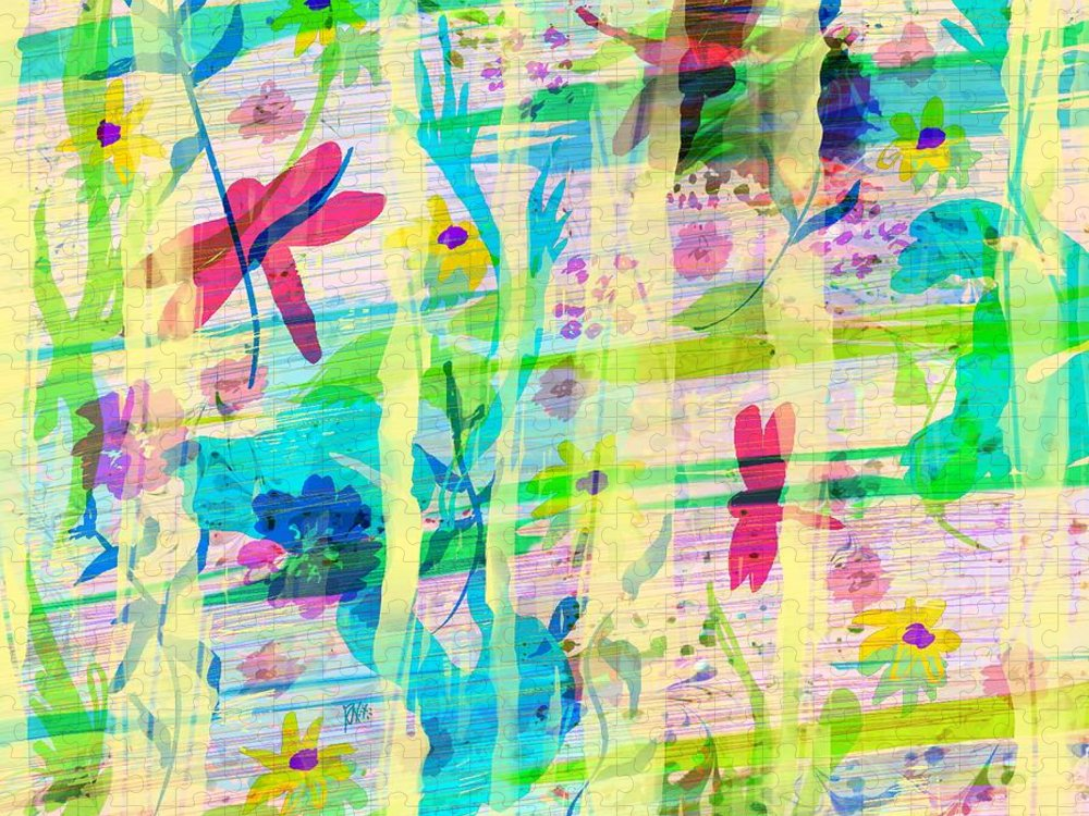 Abstract Puzzle featuring the digital art In the Garden by William Russell Nowicki
