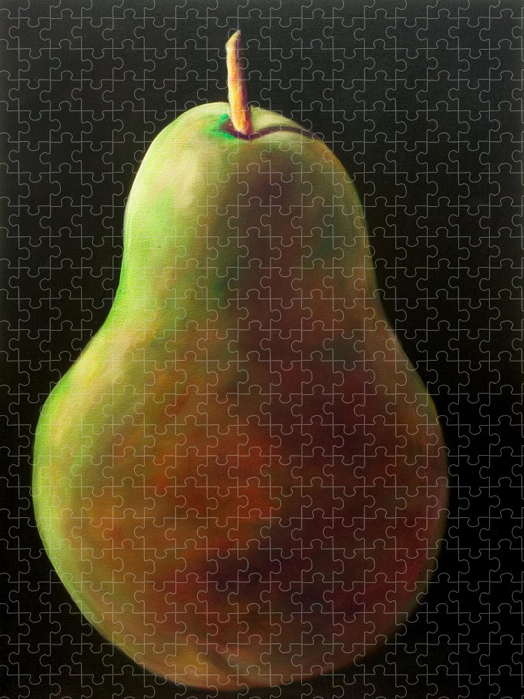 Pear Puzzle featuring the painting Jan by Shannon Grissom