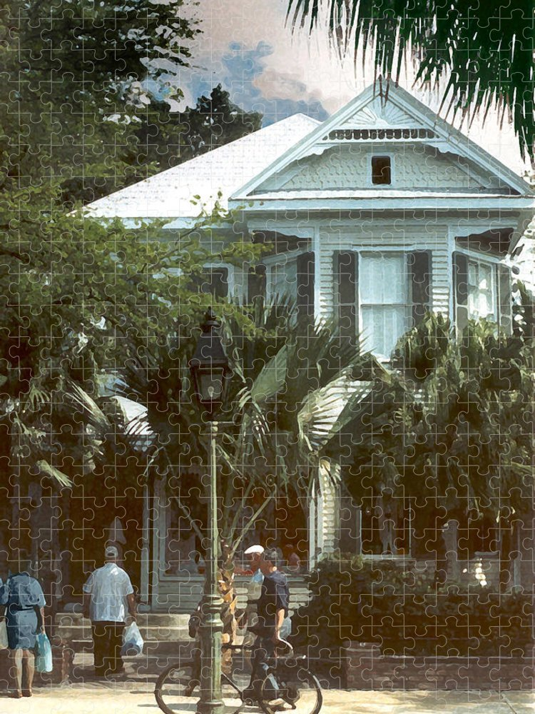 Historic Puzzle featuring the photograph Keywest by Steve Karol