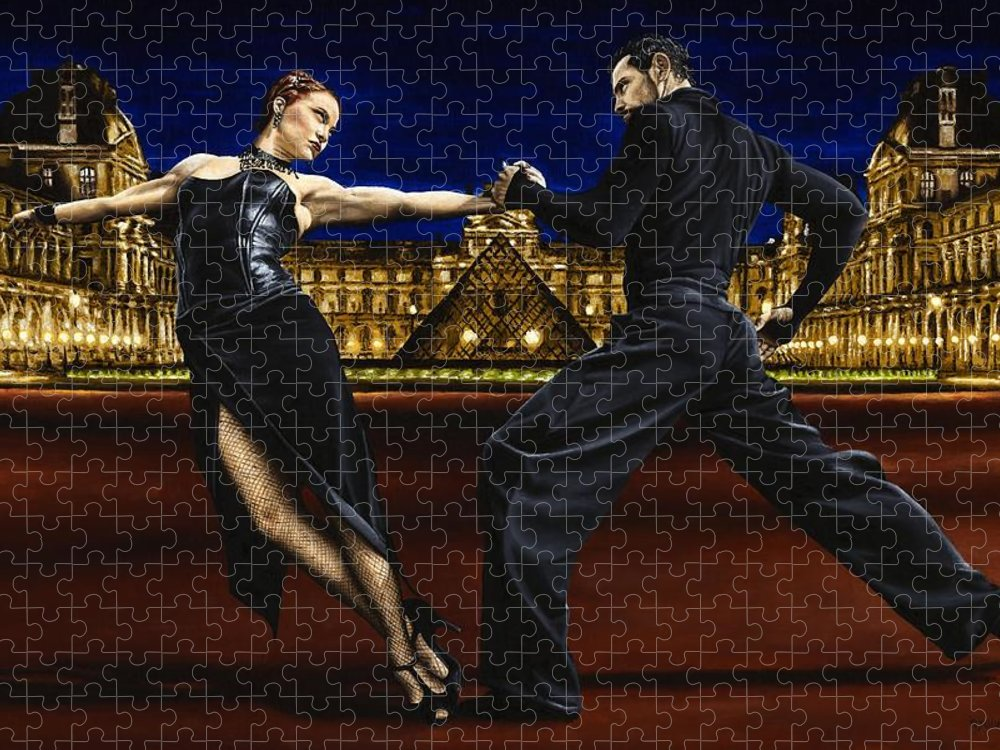 Tango Puzzle featuring the painting Last Tango in Paris by Richard Young