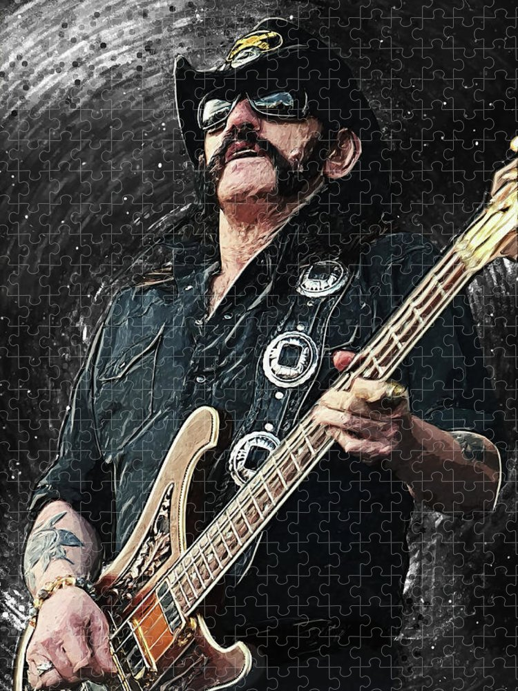 Lemmy Puzzle featuring the digital art Lemmy by Zapista OU