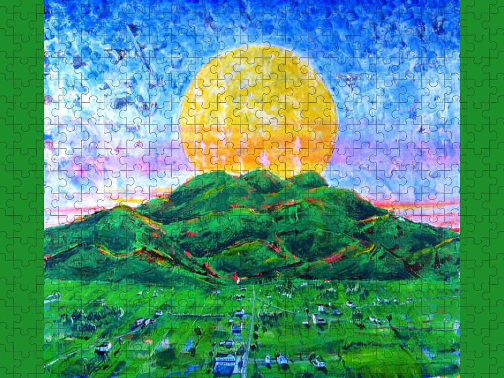 Sun Puzzle featuring the painting Light Of Day by Rollin Kocsis