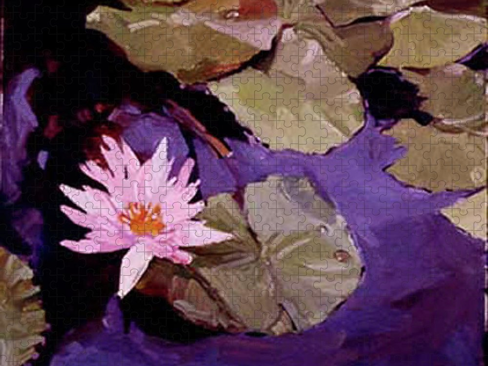 Water Lily Paintings Puzzle featuring the painting Lily Pad by Betty Jean Billups