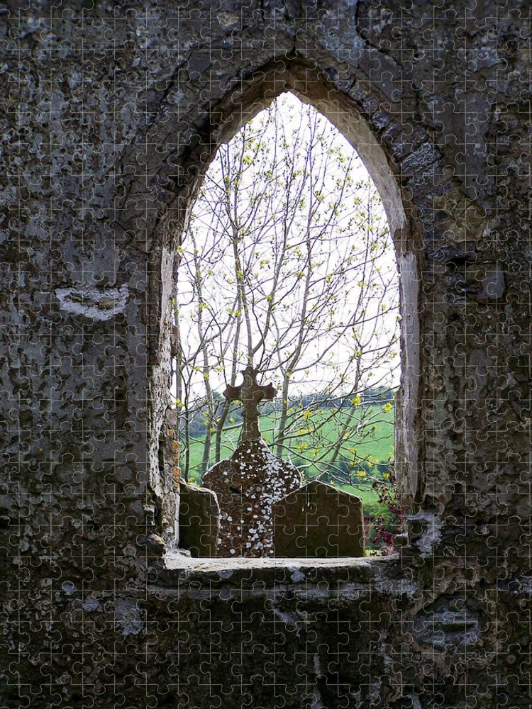 Ireland Puzzle featuring the photograph Looking Out Fuerty Church Roscommon Ireland by Teresa Mucha