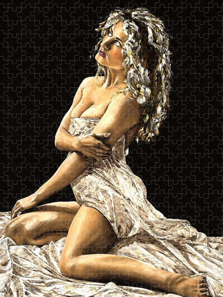 Nude Puzzle featuring the painting Luminous by Richard Young
