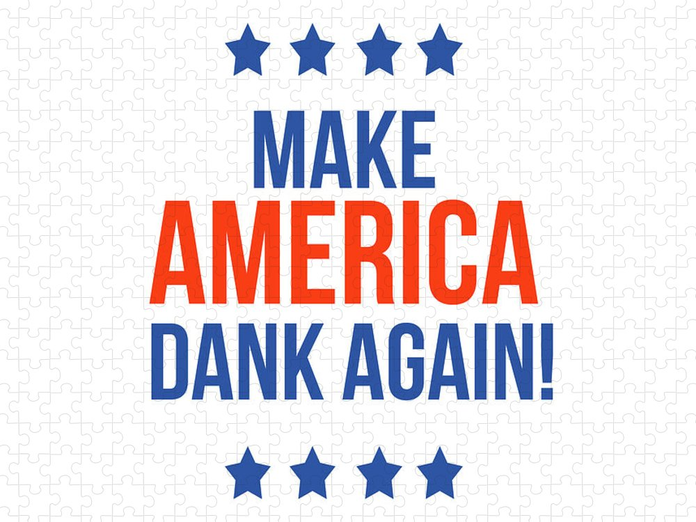 Dank Puzzle featuring the digital art Make America Dank Again- Art by Linda Woods by Linda Woods